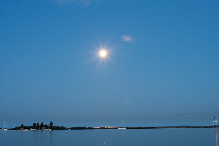 Moonlight over Grand Marais Harbor, 2009