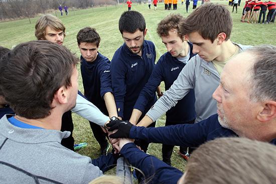 The Bethel men's team before the start of the men's race.