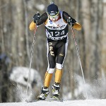St. Olaf Skier Jake Brown competes during a cross country skiing race, January 25, 2014.